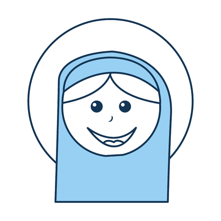 catholicism: mary virgin manger character vector illustration design Illustration