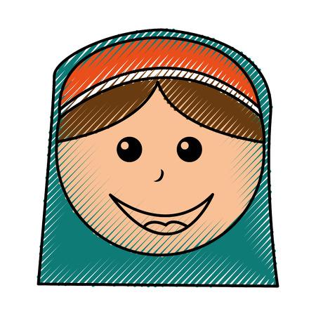Shepherd manger character icon vector illustration design