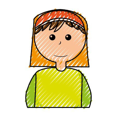 catholicism: Shepherd manger character icon vector illustration design