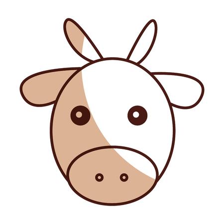 catholicism: cute ox manger character vector illustration design
