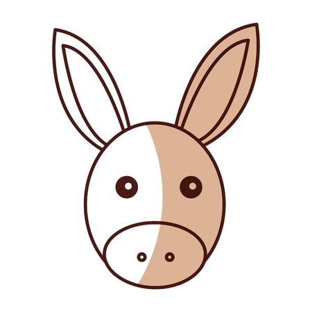 catholicism: cute mule manger character vector illustration design
