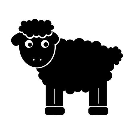 cute sheep drawing character vector illustration design Imagens