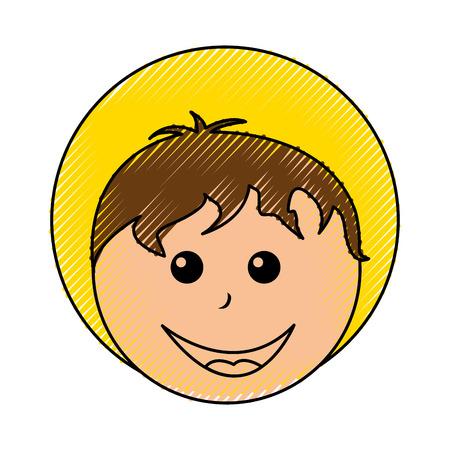 catholicism: little jesus baby manger character vector illustration design Illustration