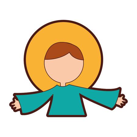 little jesus baby manger character vector illustration design Ilustração