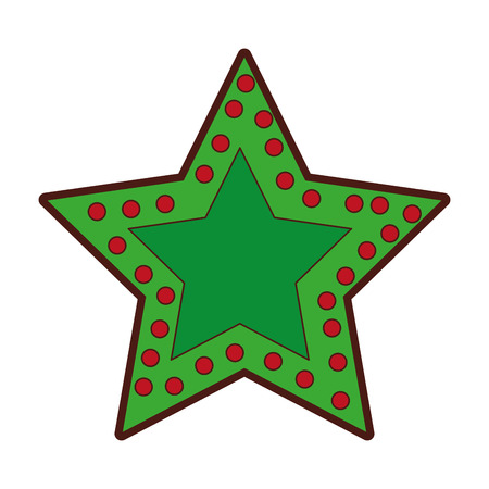 crhistmas star light icon vector illustration design