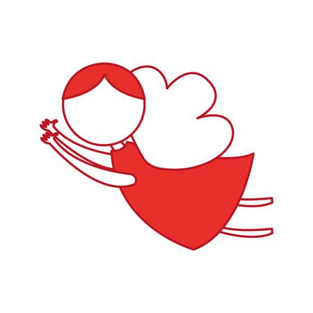catholicism: cute angel manger character vector illustration design