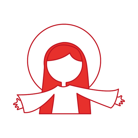 mary virgin manger character vector illustration design Illustration