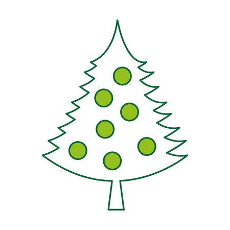 detailed image: christmas tree decorative icon vector illustration design