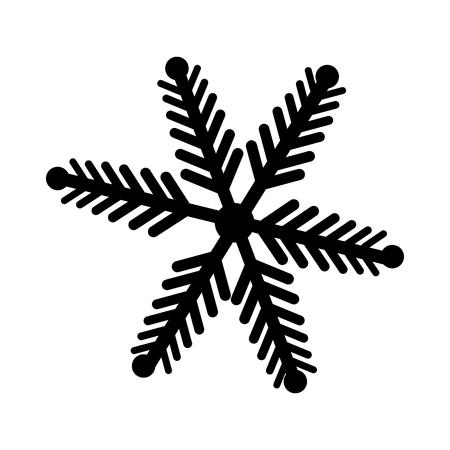 snowflake decorative isolated icon vector illustration design