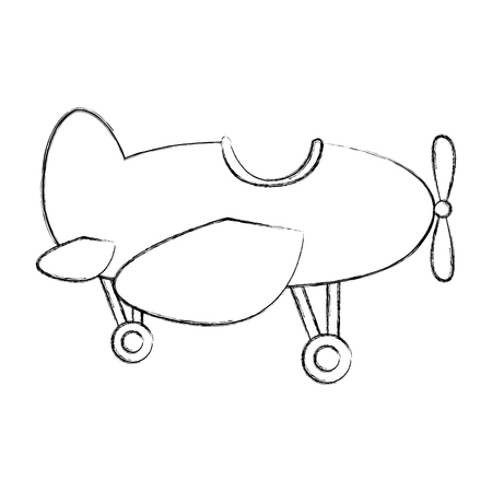 cute airplane flying icon vector illustration design