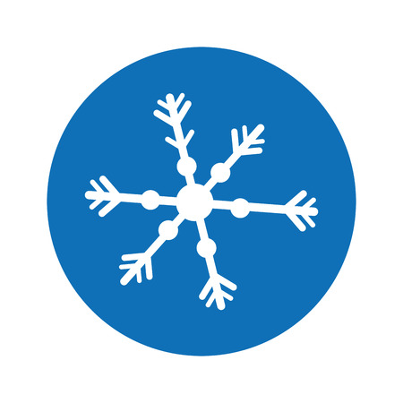 snowflake decorative isolated icon vector illustration design