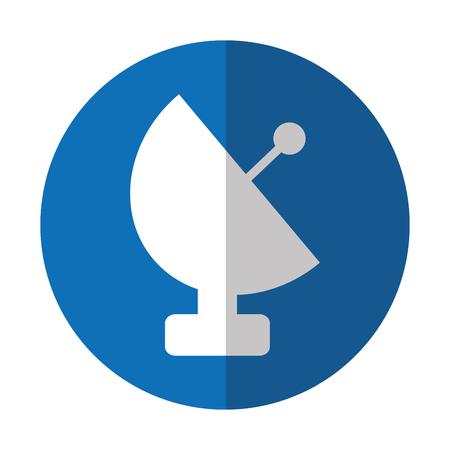 antenne satellite isolé icône illustration vectorielle design