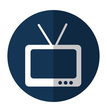 tv retro isolated icon vector illustration design Ilustrace
