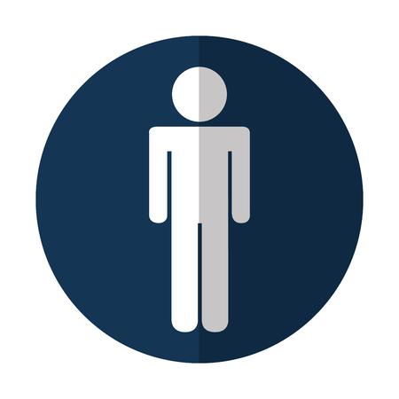 man silhouette isolated icon vector illustration design 向量圖像