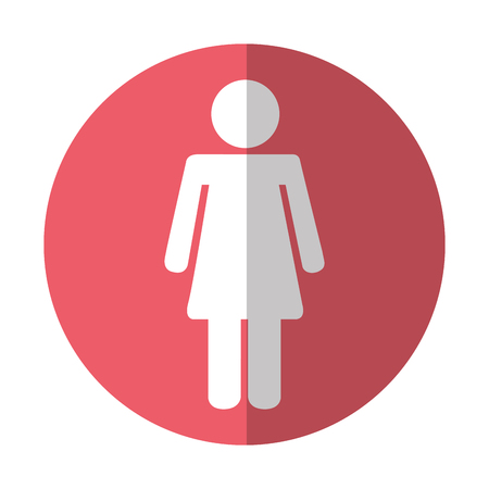 female figure isolated icon vector illustration design Illustration