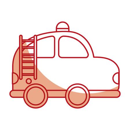 Voiture de pompier dessin icône vector illustration design Banque d'images - 78787331