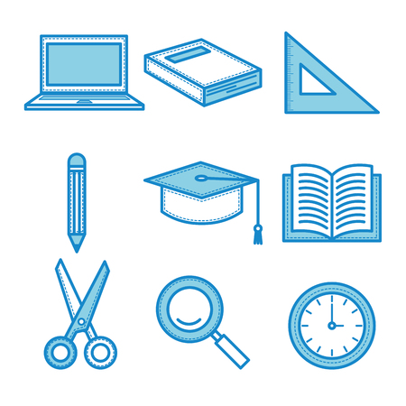 Hand drawn education related objects. Stock Vector - 78781535