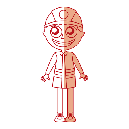 man firefighter avatar character icon vector illustration design