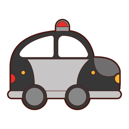 police patrol drawing icon vector illustration design