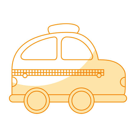 taxi vehicle isolated icon vector illustration design Illustration