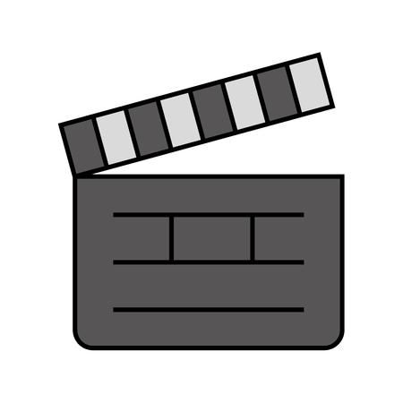 clapper board cinema icon vector illustration design