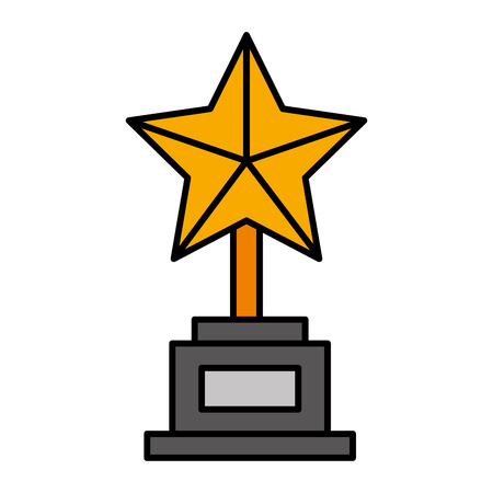 trophy star award icon vector illustration design