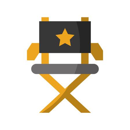 filmregisseur stoel pictogram vector illustratie ontwerp