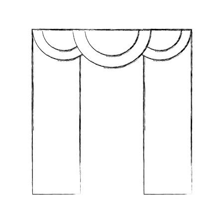 theater courtain isolated icon vector illustration design