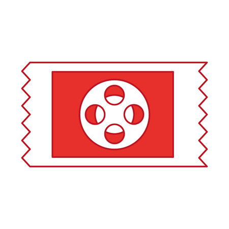 movie ticket isolated icon vector illustration design Illustration