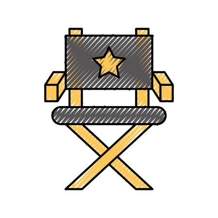 movie director chair icon vector illustration design Illustration