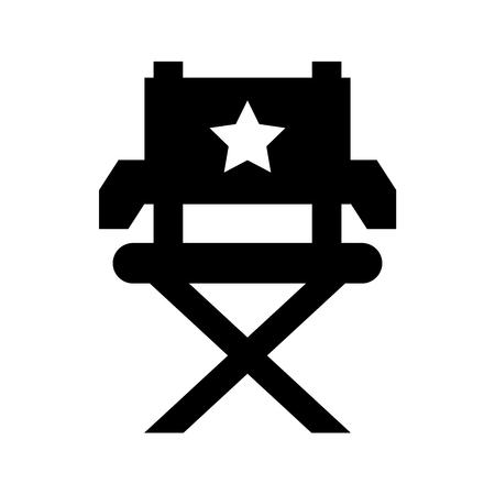 movie director chair icon vector illustration design Ilustração
