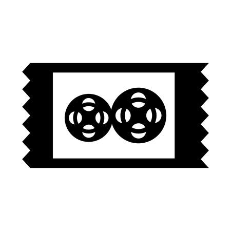 movie ticket isolated icon vector illustration design Illustration