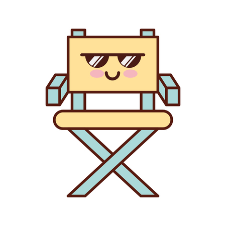 movie director chair character vector illustration design