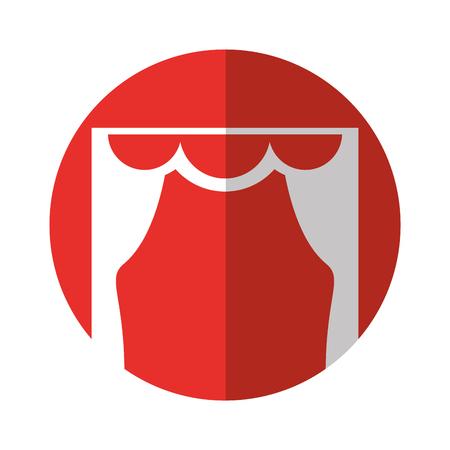 courtain: theater courtain isolated icon vector illustration design