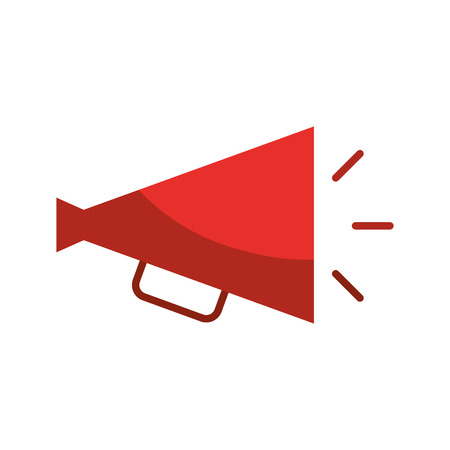 director megaphone isolated icon vector illustration design