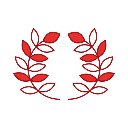 wreath leafs crown icon vector illustration design