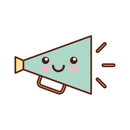 director megaphone character vector illustration design Illustration