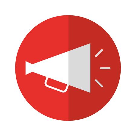 director megaphone isolated icon vector illustration design