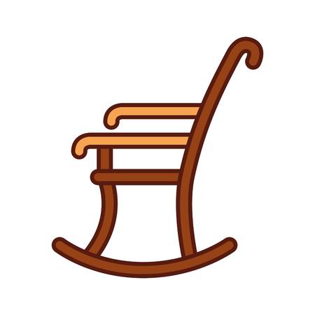 het schommelstoel geïsoleerde ontwerp van de pictogram vectorillustratie