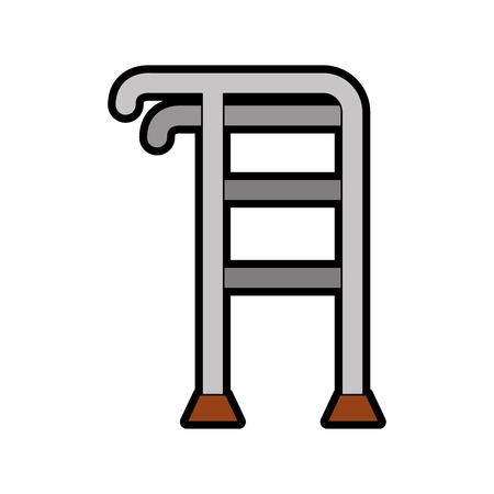 Elderly walker isolated icon vector illustration design
