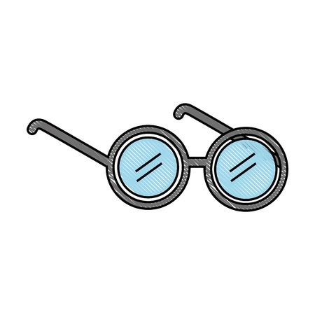elderly glasses isolated icon vector illustration design Illustration