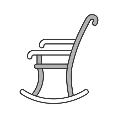 Chaise à bascule icône isolée design d'illustration vectorielle