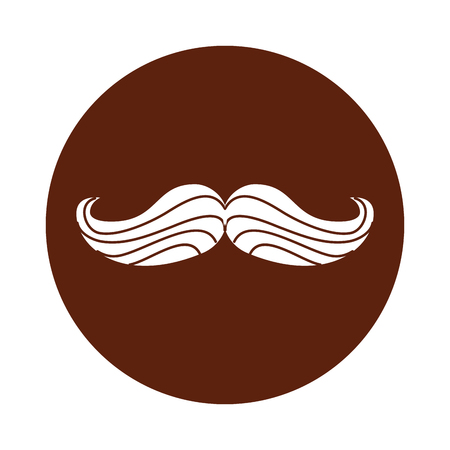 mustache hipster isolated icon vector illustration design Illustration
