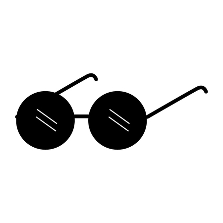 노인 안경 절연 아이콘 벡터 일러스트 디자인 일러스트