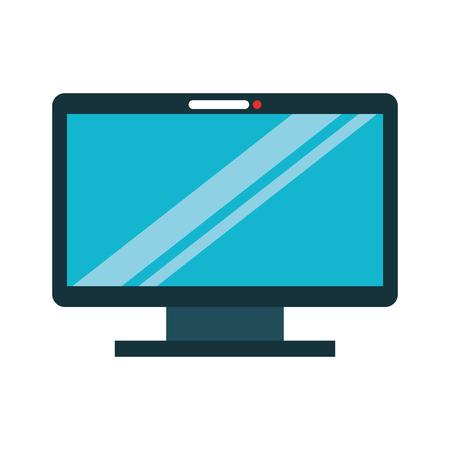 flat screen tv: monitor computer isolated icon vector illustration design