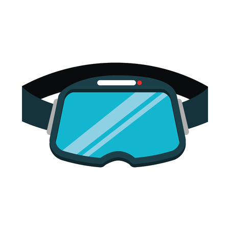 eyewear: virtual reality glasses icon vector illustration design