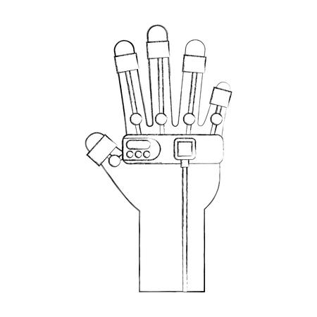 glove video game control vector illustration design