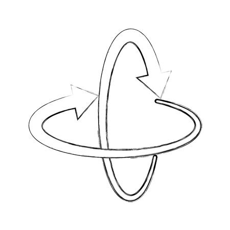 すべての方向での周りの矢印ベクトル イラスト デザイン