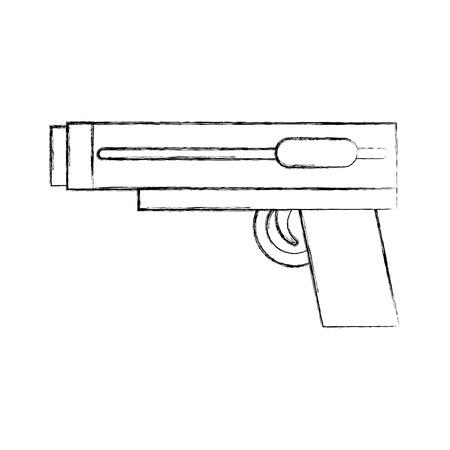 video game gun icon vector illustration design Illustration