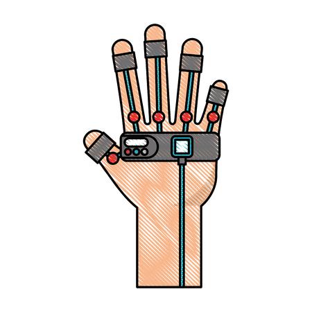 Gant jeu vidéo contrôle vector illustration design Banque d'images - 78799348